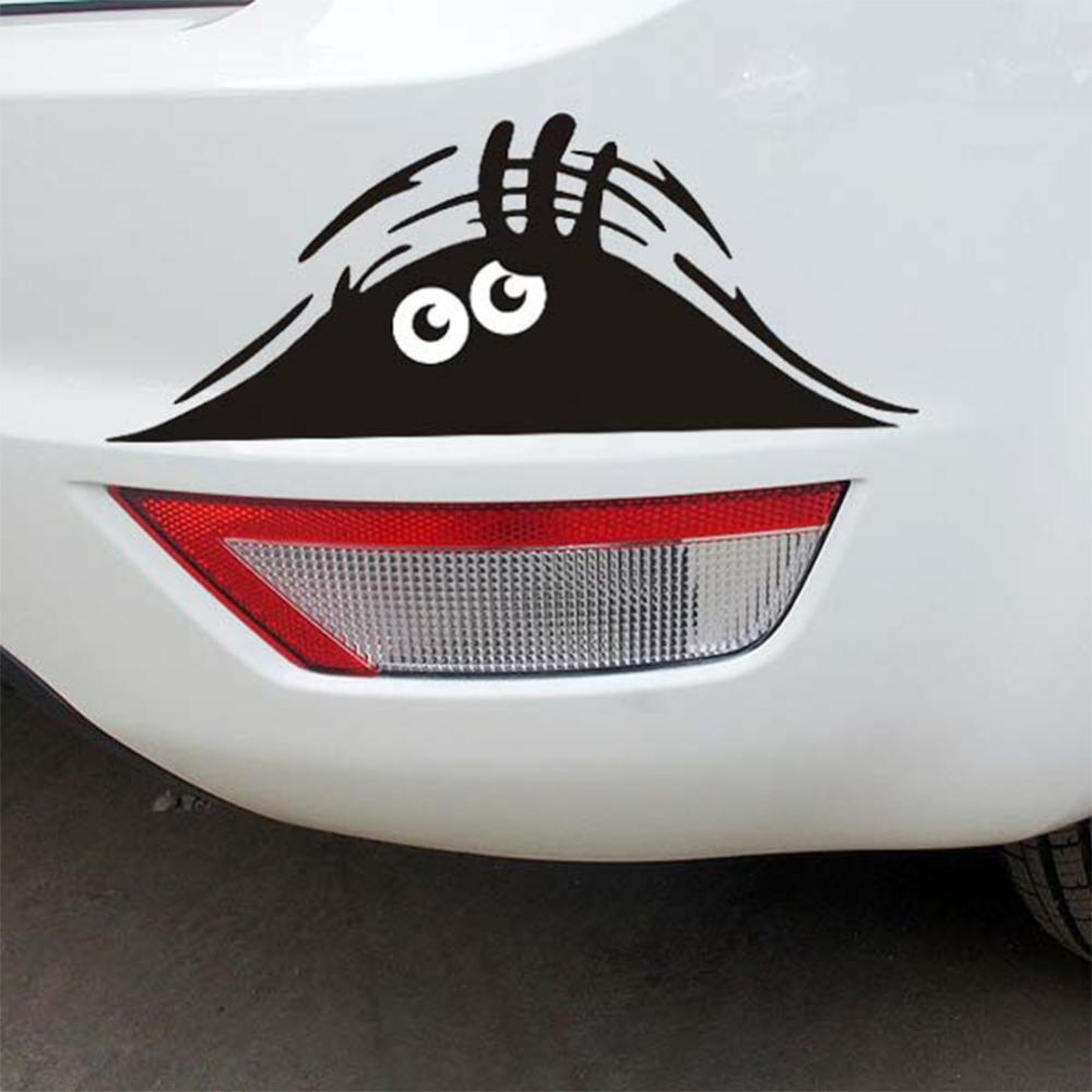 Car window sticker designs - Car Stickers Prompt Funny Window Sticker Vinyl Graphic Decal Eyes Peeking Monster Car Hoods Trunk Thriller