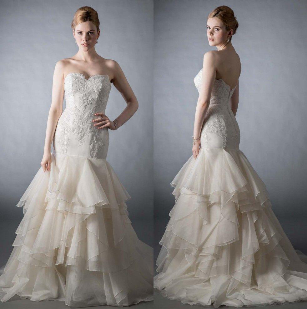 Sweetheart fall wedding dresses 2016 lace mermaid bridal for Dhgate wedding dresses 2016
