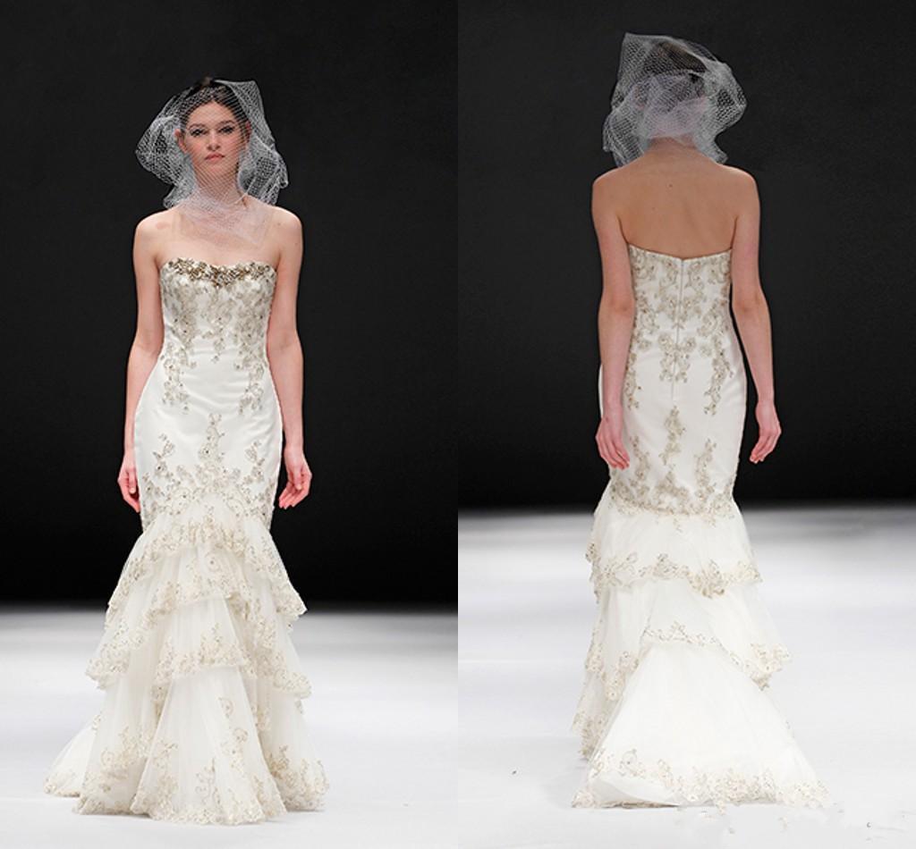 New Arrivals Wedding Gown Gold Mermaid Wedding Dress