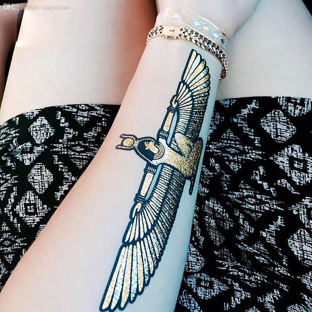 Wholesale 2015 hot egyptian gold tatoo temporary stickers for Wholesale temporary tattoos
