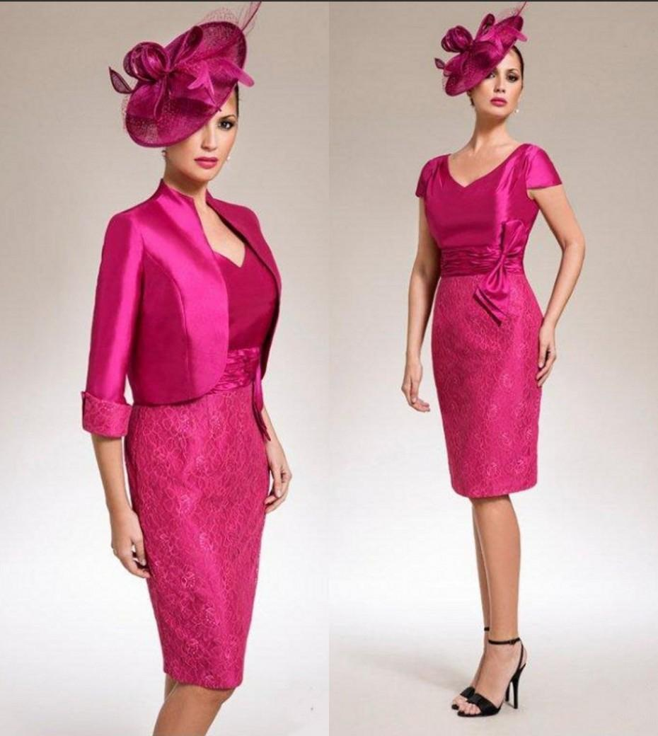Hot Pink Mother Of The Bride Dresses Discount Wedding