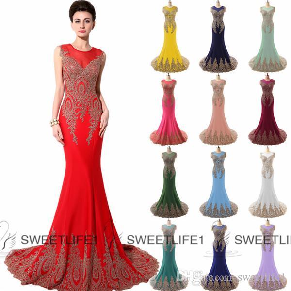 Elegant Long Evening Prom Dresses