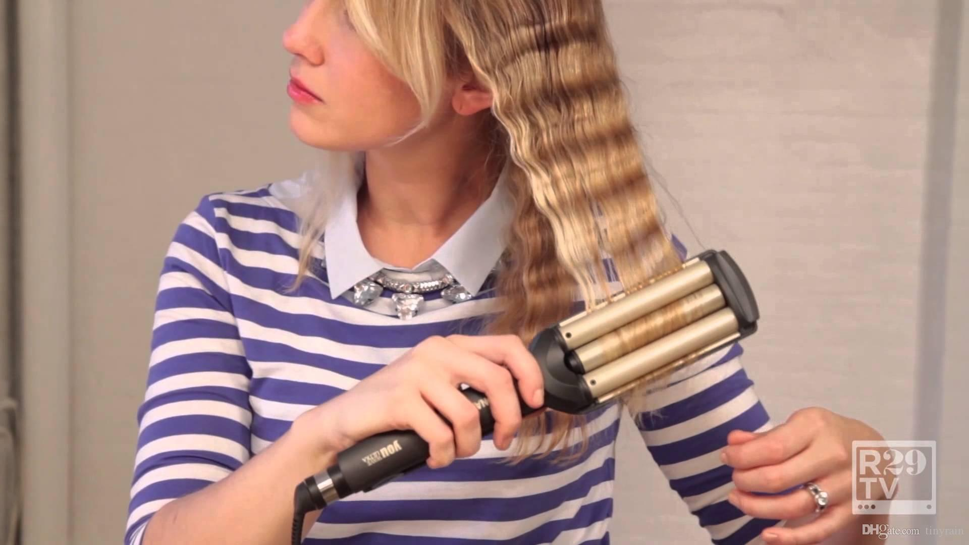 Curling Iron Triple Barrel 5 In 1 Wand Styles Flexi Rods