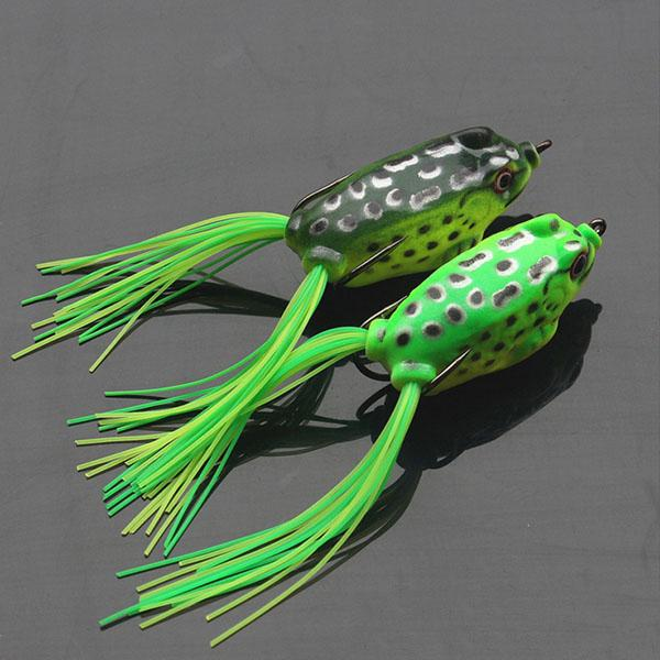 Top water soft fishing lures frogs for snakehead topwater for Top water frogs bass fishing