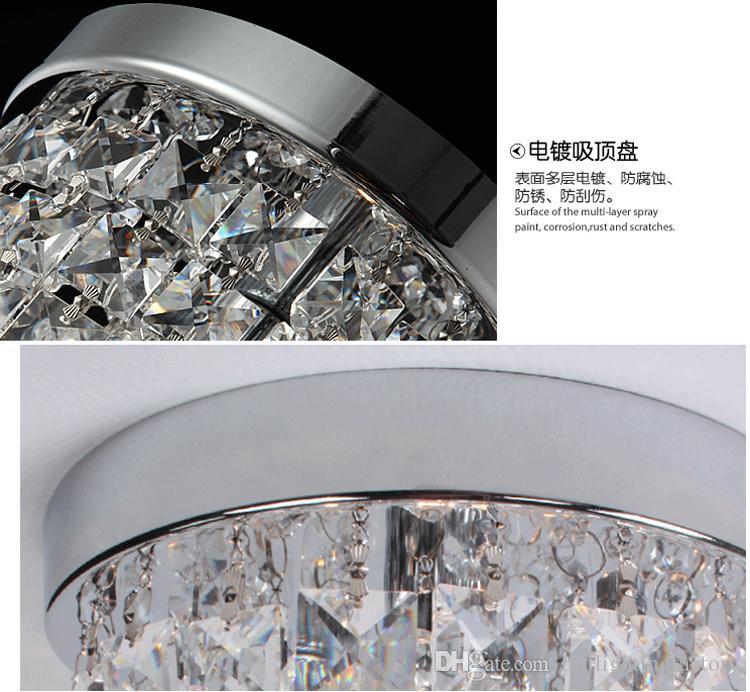 plafoniere a led moderno soffitto di cristallo camera da letto ...