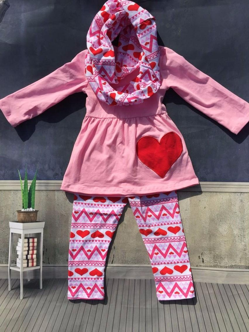 Cute Girl Baby Outfits   2016 Cute Toddler V Days Girls Baby Kids Valentine  Clothes Heart