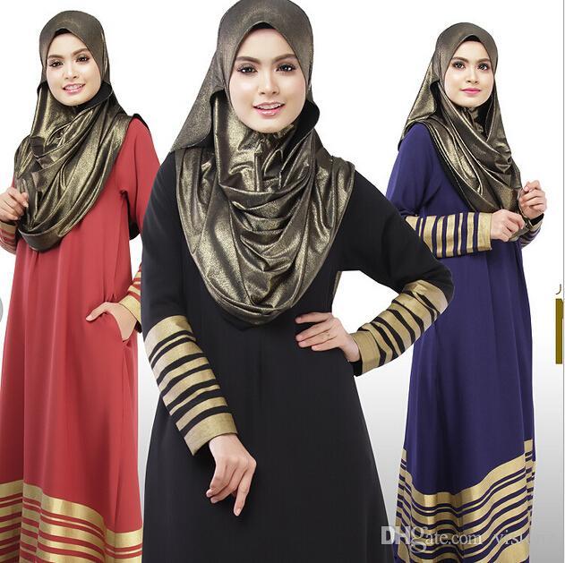 2015 New Fashion Muslim Malaysia Long Dress Clothing For Islamic Women Dubai Abaya Muslim Dress