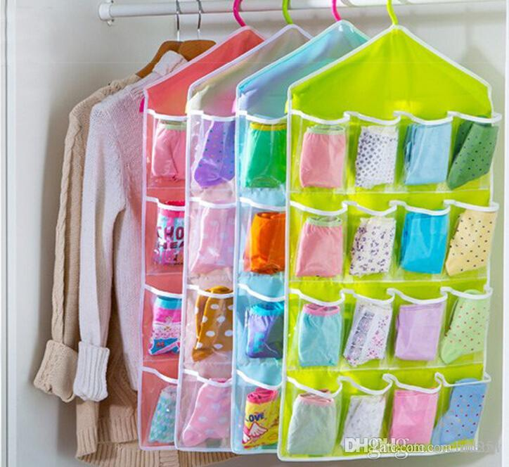 Wall Hanging Storage underwear socks hanging storage bags wall wardrobe pouch sundries