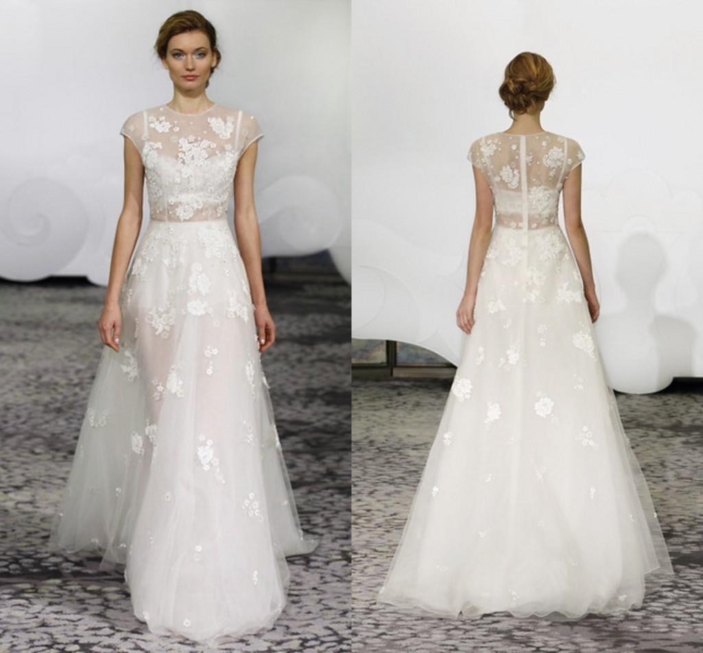 Discount 2016 Rivini New Plus Size Wedding Dresses Short Sleeve White Appliqu