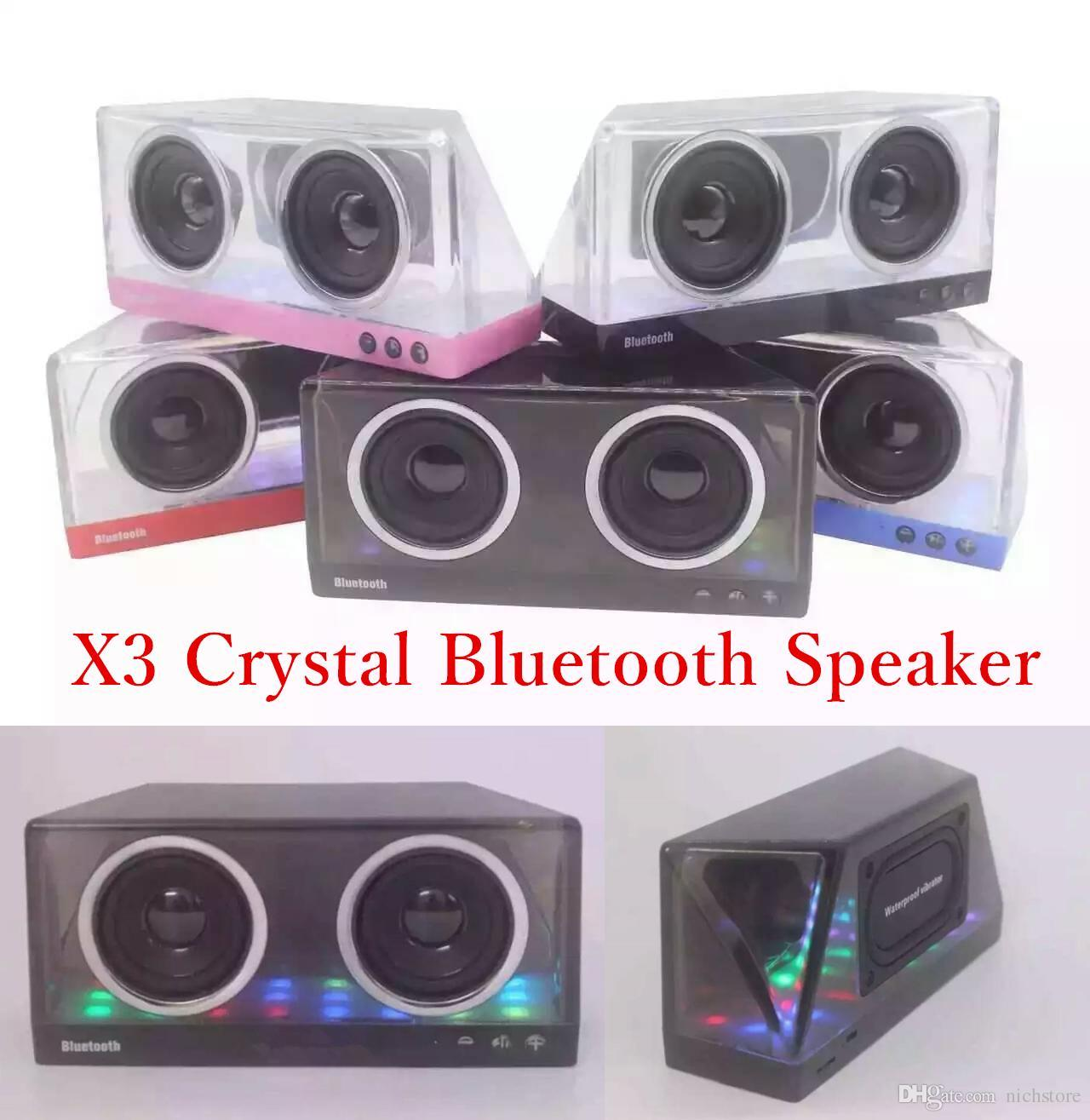 Anko Bluetooth Portable Speaker Crystal Look: Mini Portable X3 Crystal Style Bluetooth Speaker With Mic Wireless Handsfree Stereo Subwoofer