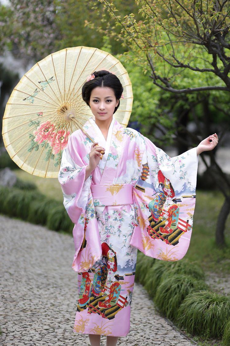 2017 Cheap Japan Dresses Traditional Japanese Ethnic Dress Sexy Kimono Robe Japanese Kimonos ...