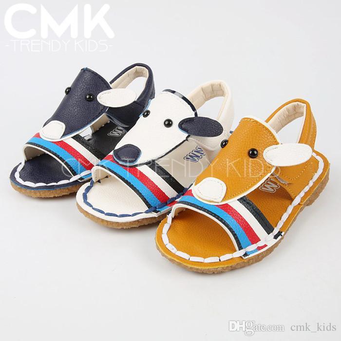 PVC TPR Unisex CMK-KS056 2015 3 Colors Cute Animal Kids Sandals Shoes