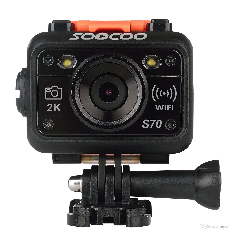 SOOCOO S70 Спорт действий камеры 2k @ 30fps 1080p @ 60fps Встроенный WiFi с Наблюдать пультом дистанционного управления (3 батареи)