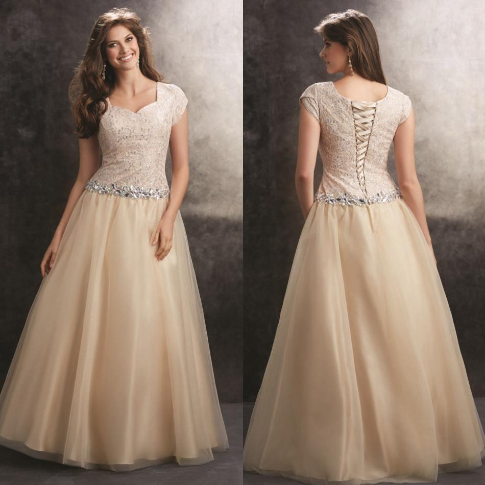 Cheap Plus Size Modest Prom Dresses - Long Dresses Online
