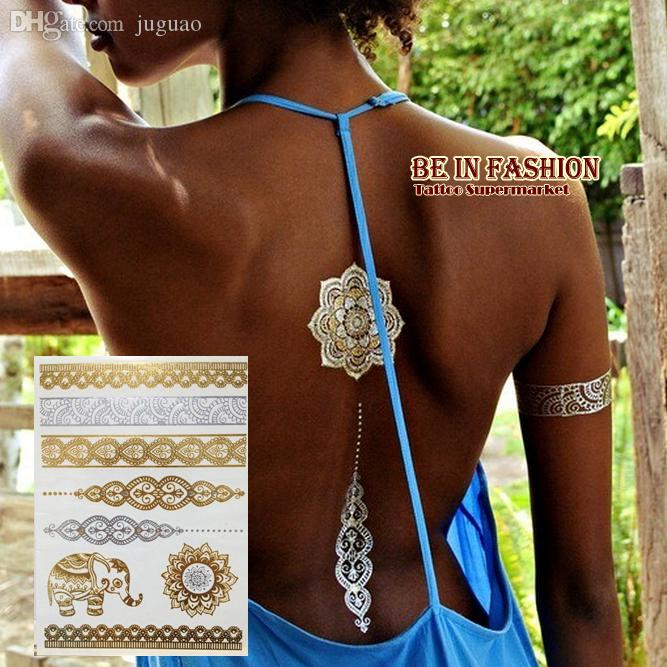 Wholesale 1p trendy arabic indian elephant jewelry for Custom temporary tattoos no minimum