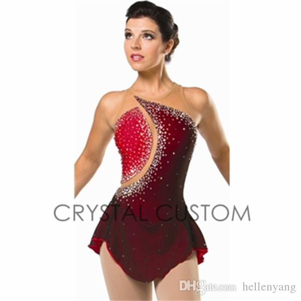 Custom Figure Skating Dresses For Women With Spandex Graceful New ...