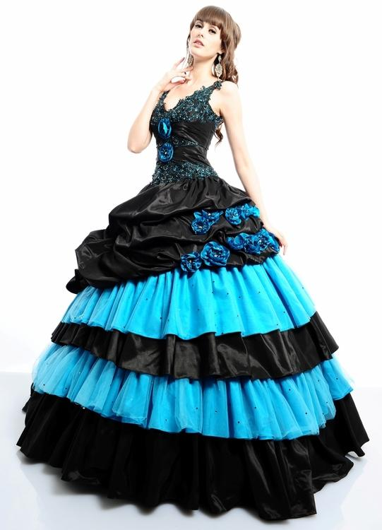 Two Tones 2015 Beaded Ball Gowns Quinceanera Dresses for Sweet 16 ...