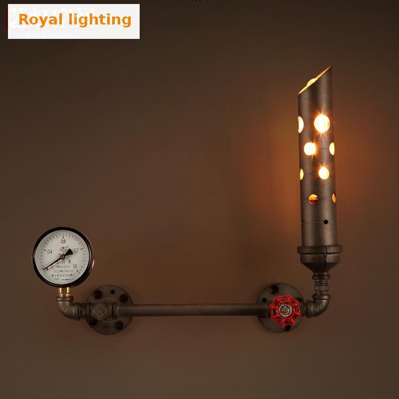 2017 Unique Design Retro Rustic Indoor Wall Lights Arandela Iron Chimney Vintage Metal Wall Lamp ...