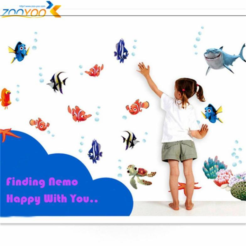 3d Movie Sticker Finding Nemo Wall Decals Nursery Removable Mural Art  Cartoon Stickers Zooyoo617 45*60 Diy Colorful Sea Fish Fish Pond Uv Filter  Fish Tank ... Part 64