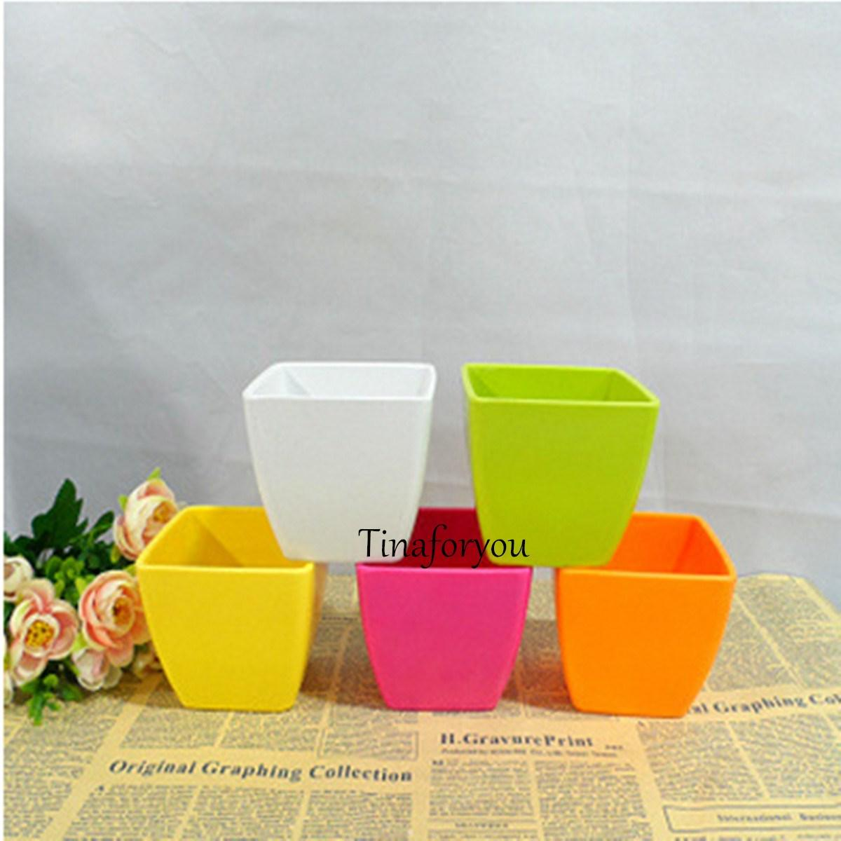 Best Quality Wholesale Creative Small Square Flower Pots