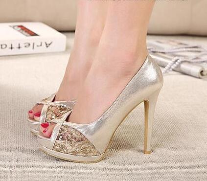 Comfortable Gold Heels
