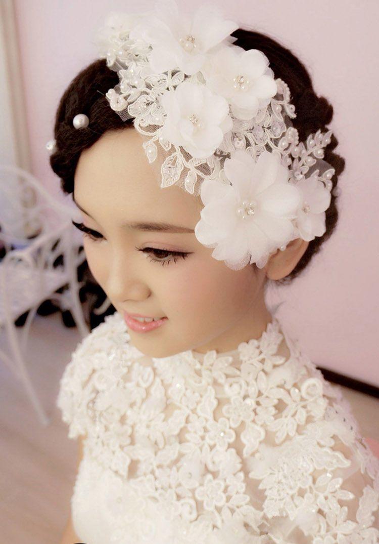 2015 bridal hair accessories handmade lace hair rhinestone crystals flower headband wedding hair jewelry pearl beads bridal hair piece flower hair accessory