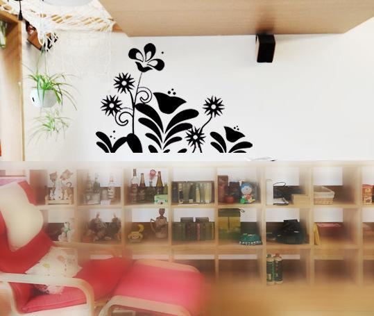 Venta al por mayor ramo floral gráfico etiquetas de la pared ...