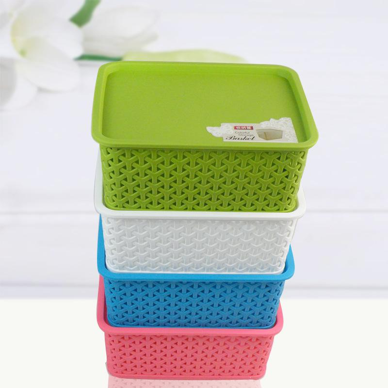 Lovely Ful Plastic Hollow Korean Small Storage Box Storage Baskets Storage Basket Woven  Plastic Basket Without Cover Online With $59.34/Piece On Zhoudan5248u0027s ...
