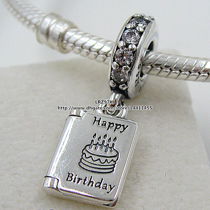 2017 925 Sterling Silver Birthday Wishes Dangle Charm Bead