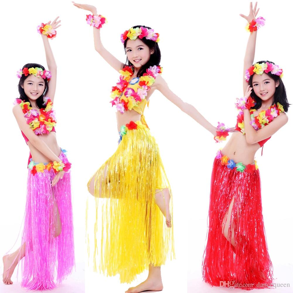 Online Cheap Kids Bollywood Costume Hawaii Hula Dance Children Dancewear Belly Dancing Girls ...