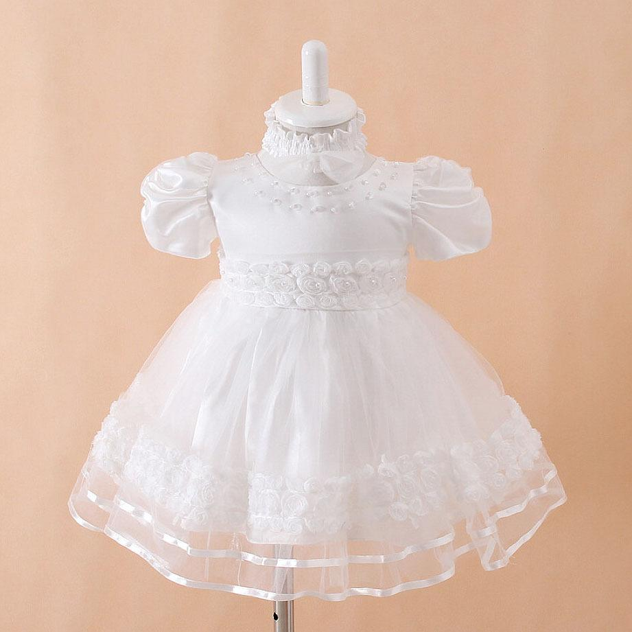 2017 White Baby Girl Christening Dress Frilly And Fancy