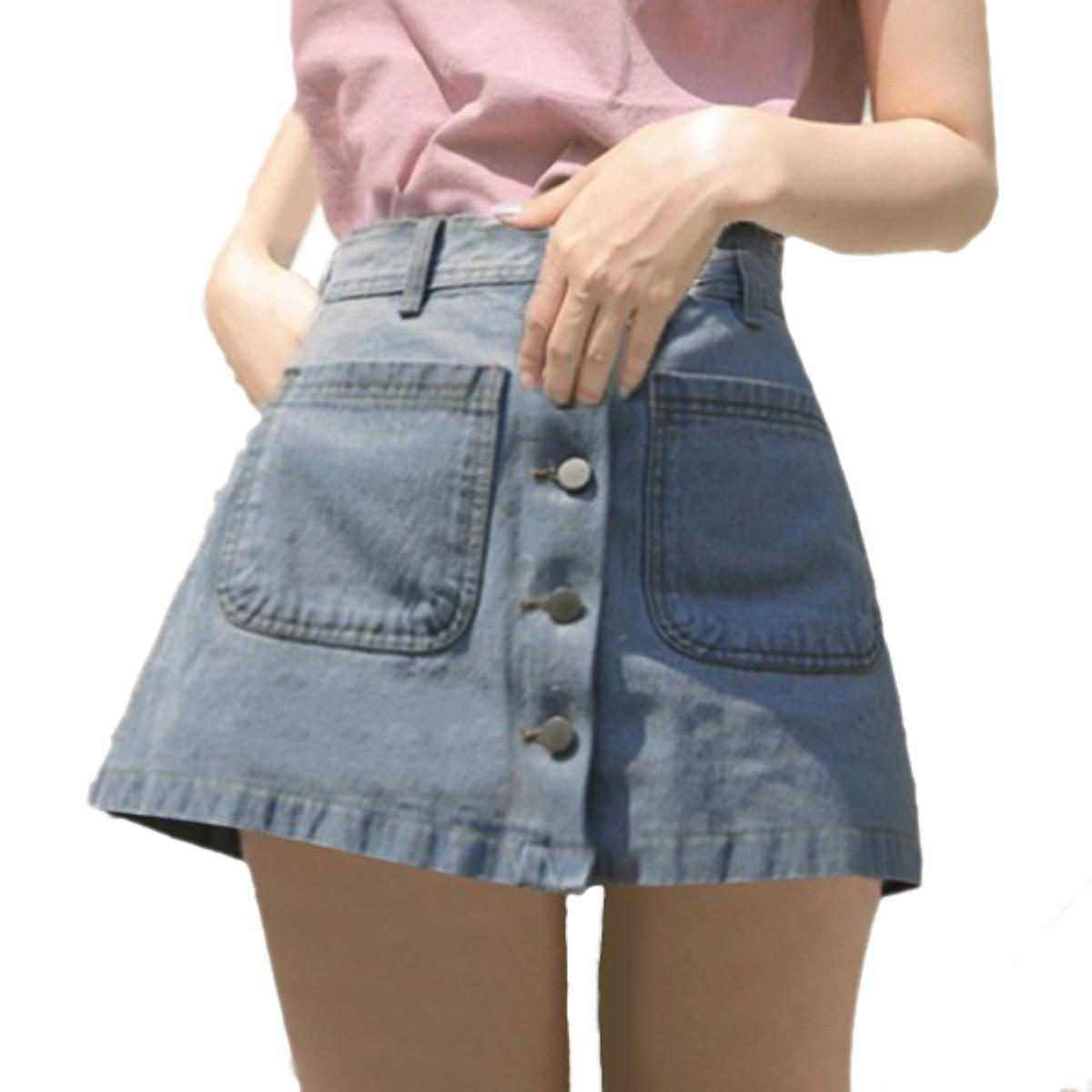 Summer Style 2016 Women Denim Skirt Jeans Short Empired ...