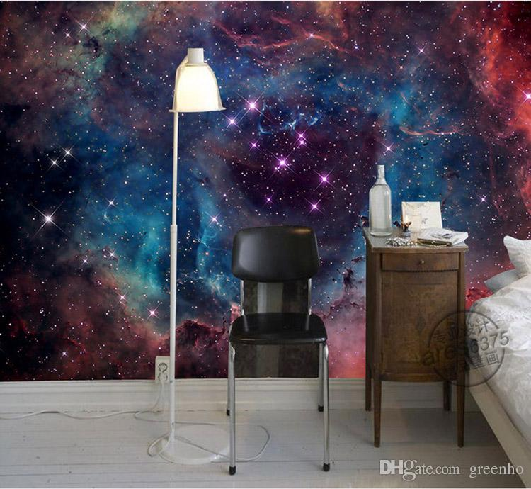Discount Galaxy Wallpaper For Bedroom Walls | 2017 Galaxy ...