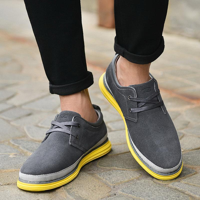 Man Leather Shoes Suede Leather Casual Shoes For Men England Style ...