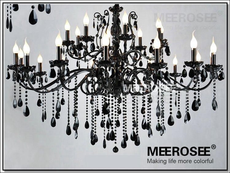نجف تحفه اسود كرستال Vintage-black-24-arms-chandelier-crystal