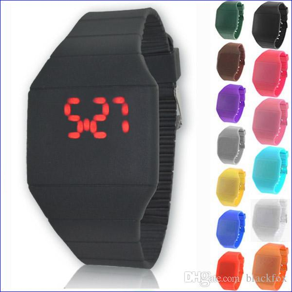 Jelly Touch Watch Women Men Led Touch Watch
