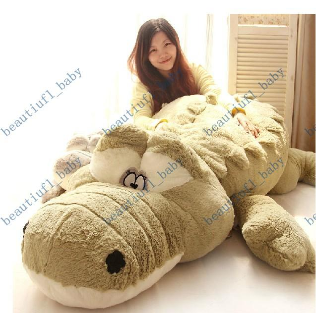 Giant Animal Pillow Bed : 2018 New Arrival Stuffed Animals Brinquedos Big Size Simulation Crocodile Plush Toy Bed Cushion ...
