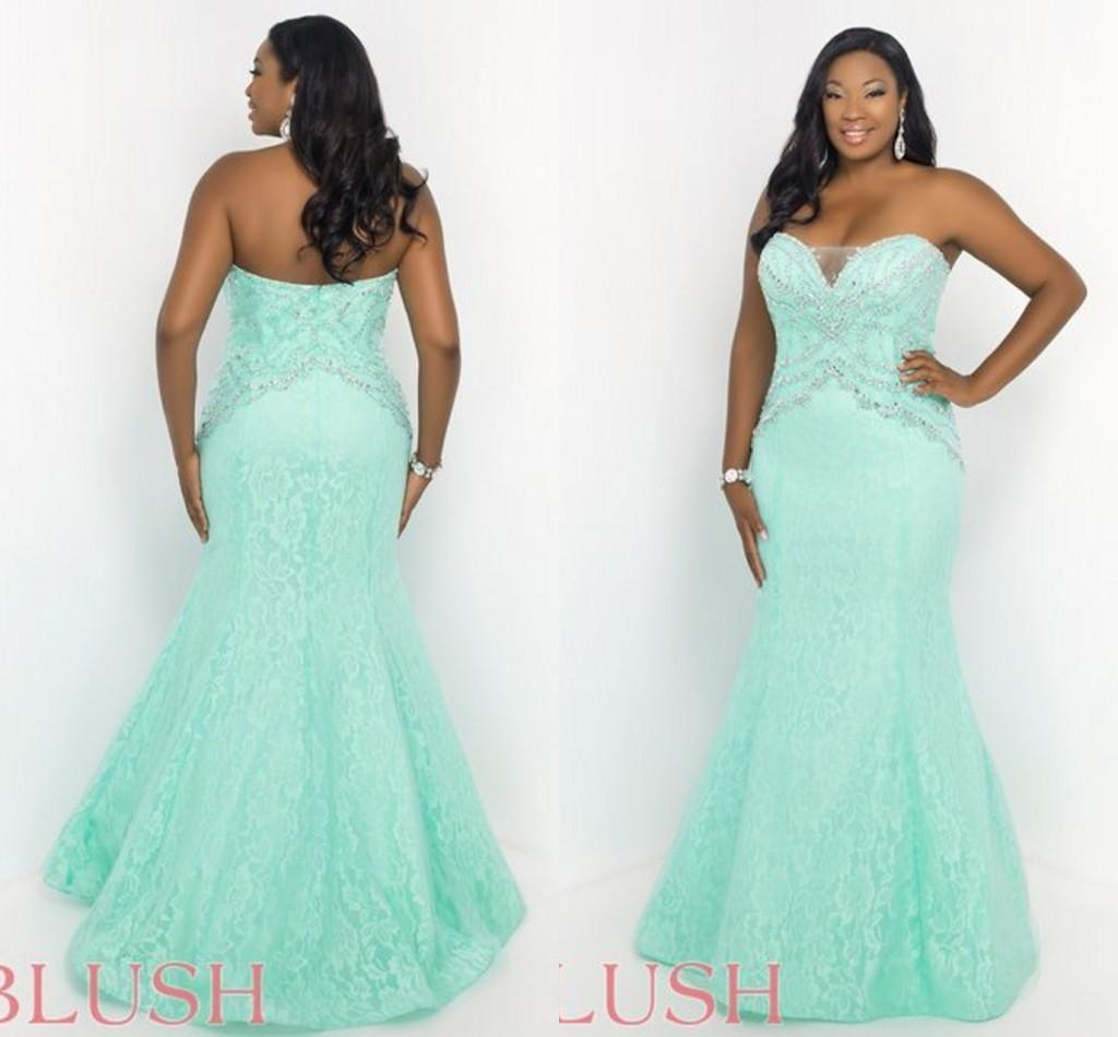 Mn Plus Size Prom Dresses - Evening Wear