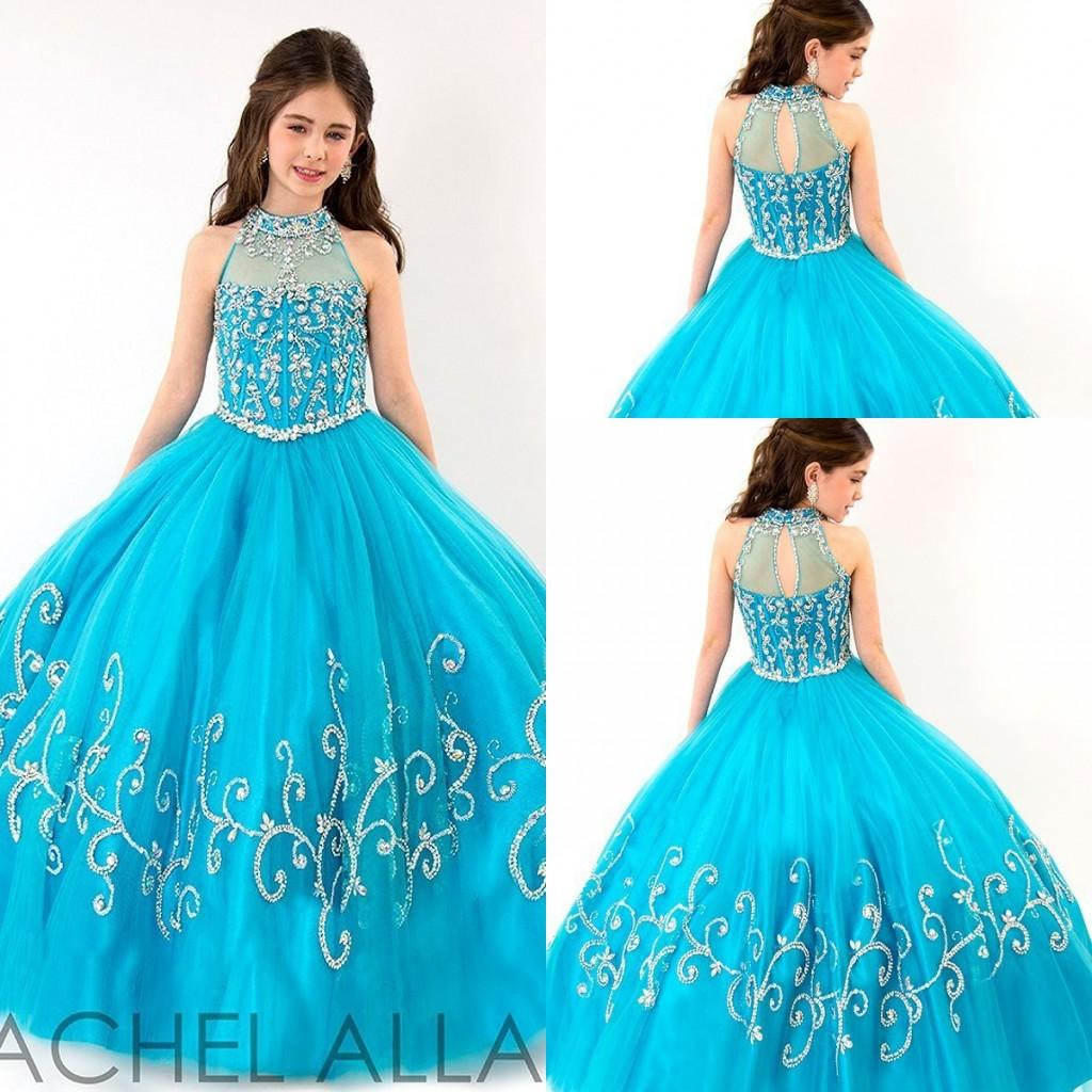 2015 Cute Princess Ball Gowns Girls Pageant Dresses Vintage High ...