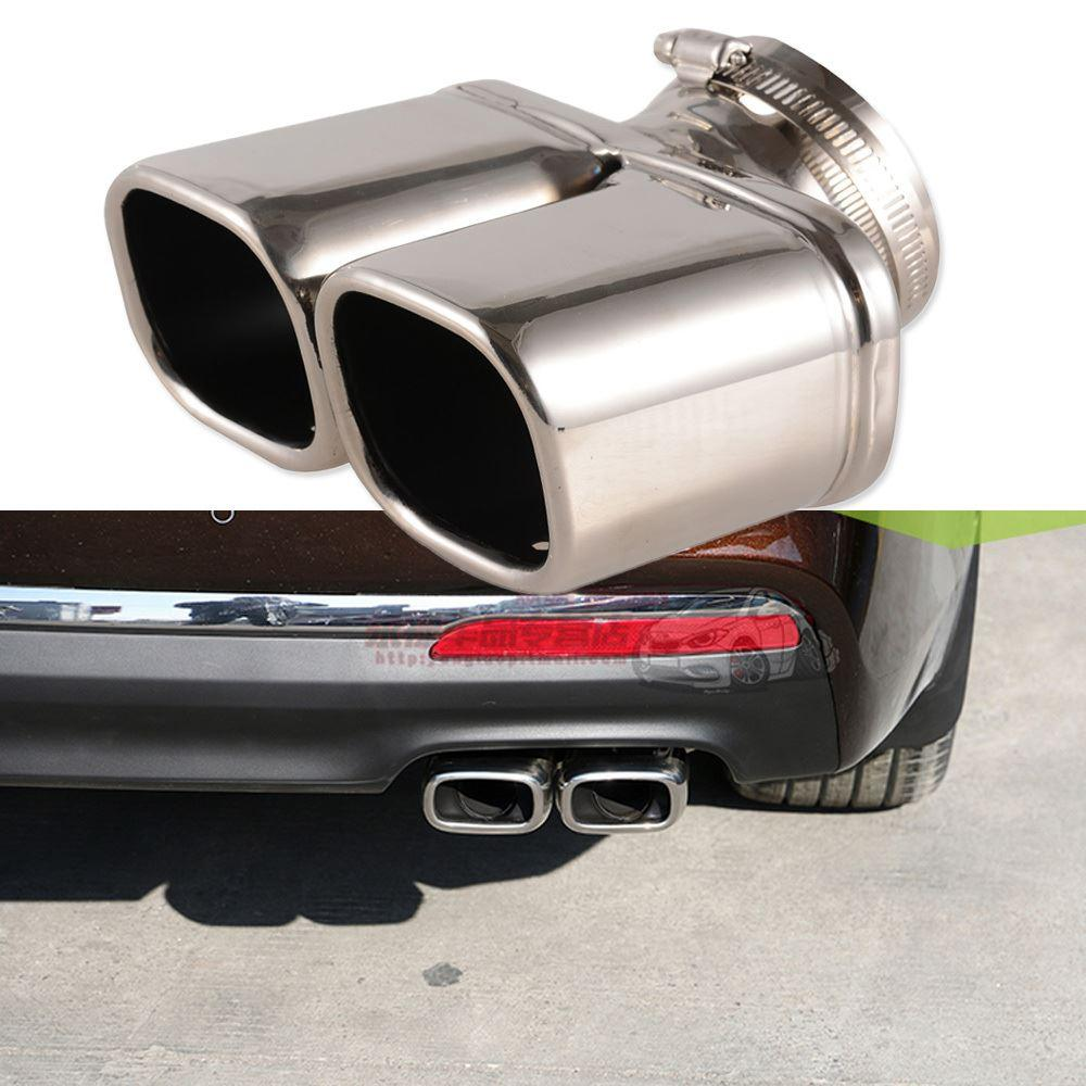 online cheap y pipe car exhaust pipe stainless steel dual round tail muffler tip pipe auto. Black Bedroom Furniture Sets. Home Design Ideas