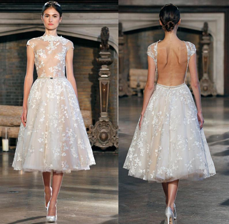 Grecian sexy simple 2015 short wedding dresses backless for Grecian wedding dress with sleeves