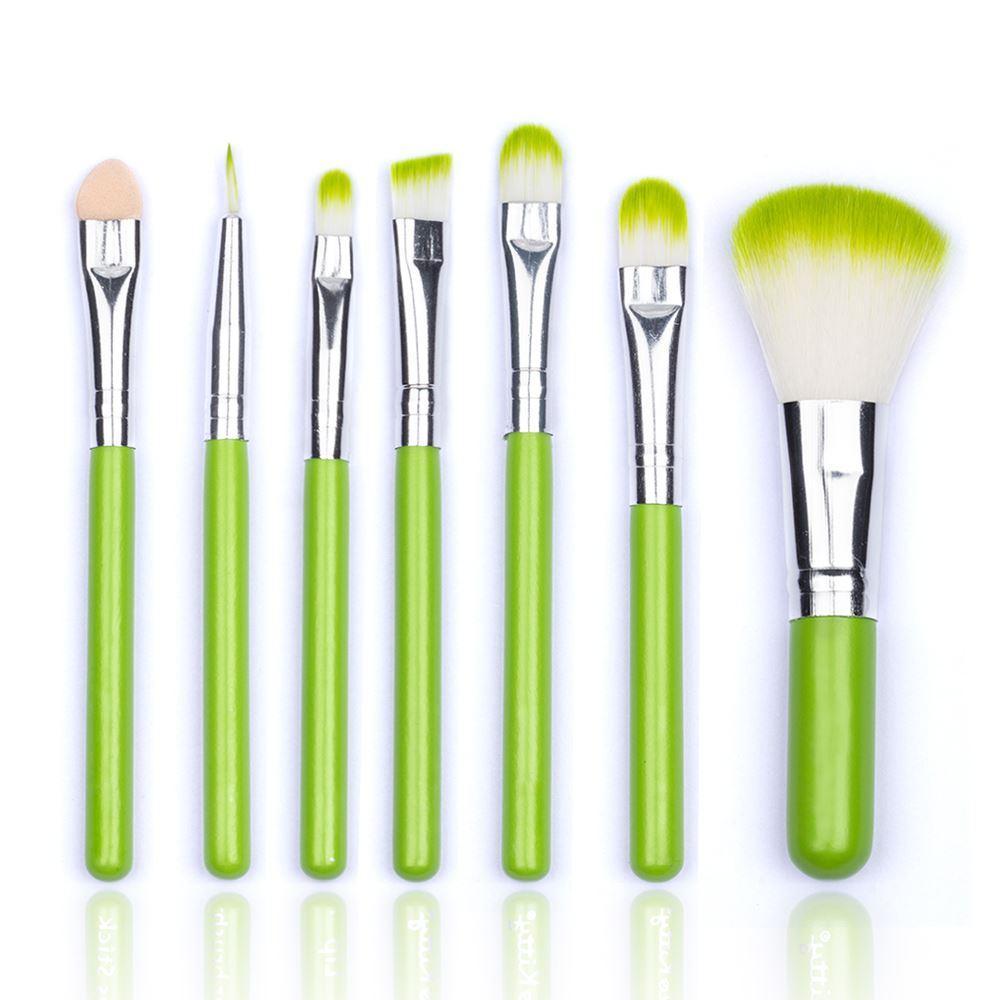 Snap Hello Kitty Brand Green Cosmetic Brush Set Makeup Kit Beauty Kuas Kabuki Brushes Face Care