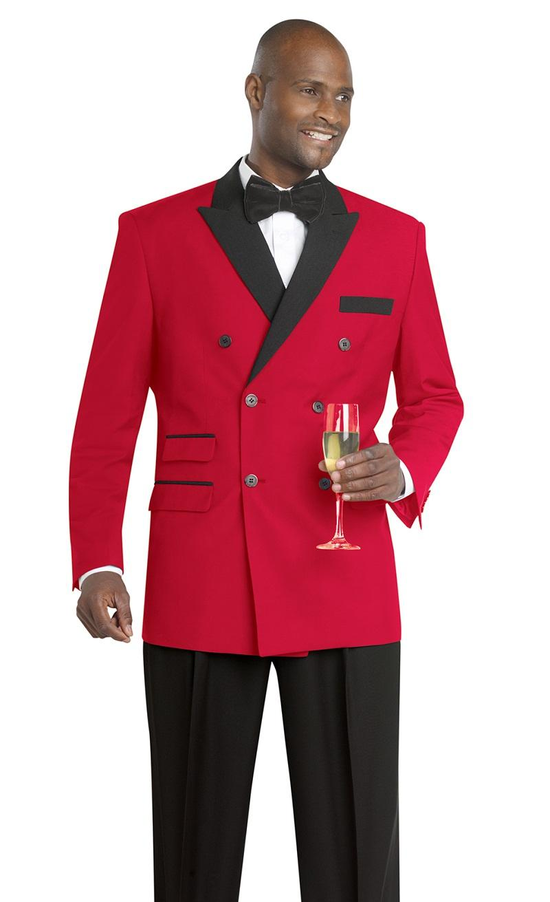 2015 Classic Red Wedding Suits for Men Peaked Lapel Tuxedos ...