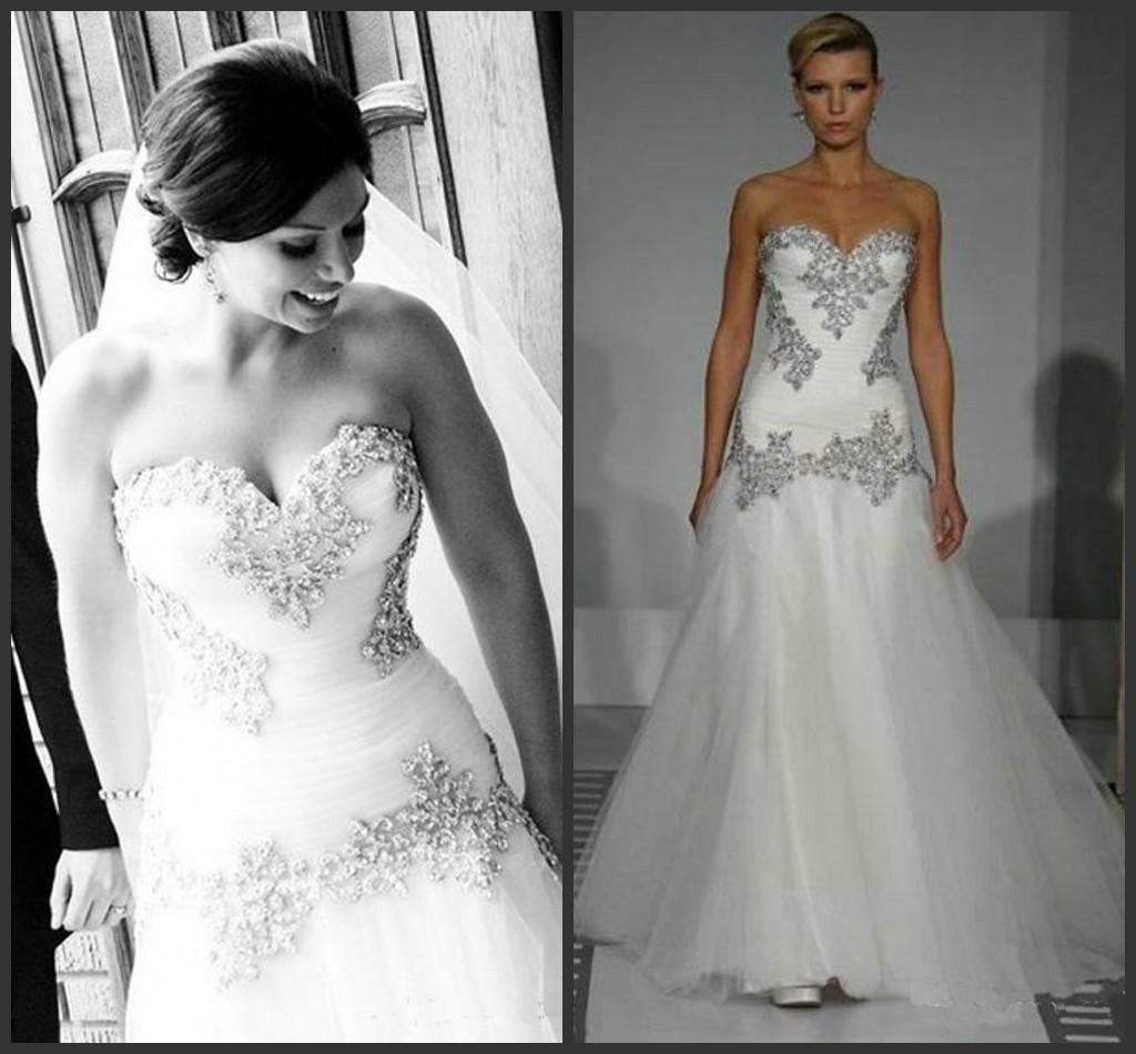 2016 Pnina Tornai Wedding Dresses Crystal Bead Sequins
