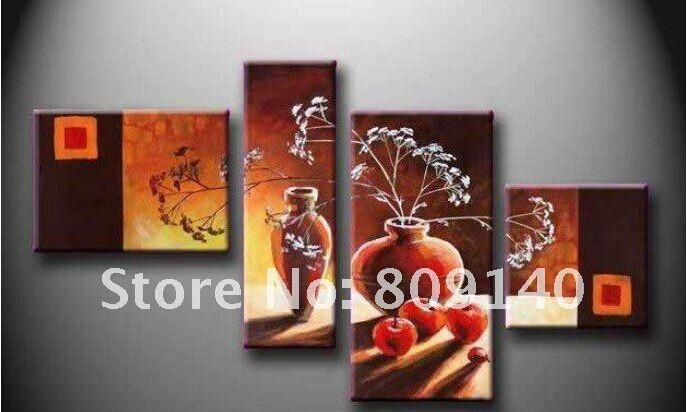 Stretched/Framed Still Life Oil Painting Canvas Handmade Abstract ...