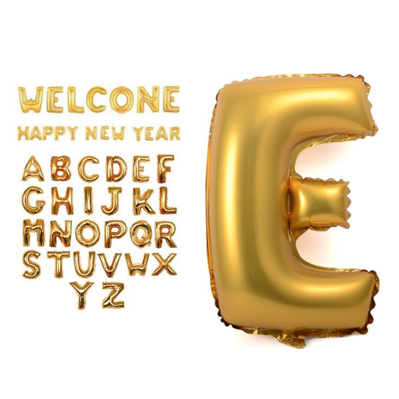 100pcs giant alphabet letter gold a z helium mylar balloon 40 party decorations auto sealing