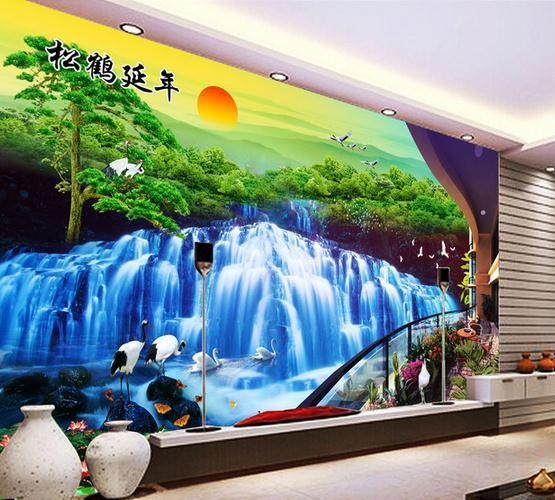 Wall Paper Hd 3d Scenery Woods Wallpaper Mural Wall Stickers ...