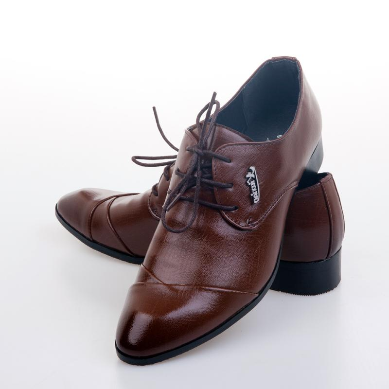 2015 New Men's Leather Shoes,Brown Men's Business Dress Shoes Men ...