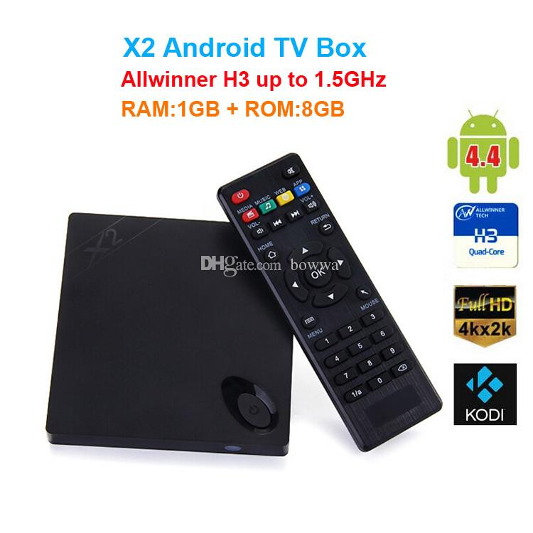 Original Beelink X2 Android 4,4 TV BOX H3 Quad-cœur Cortex-A7 4K * 2K HD 1080P B