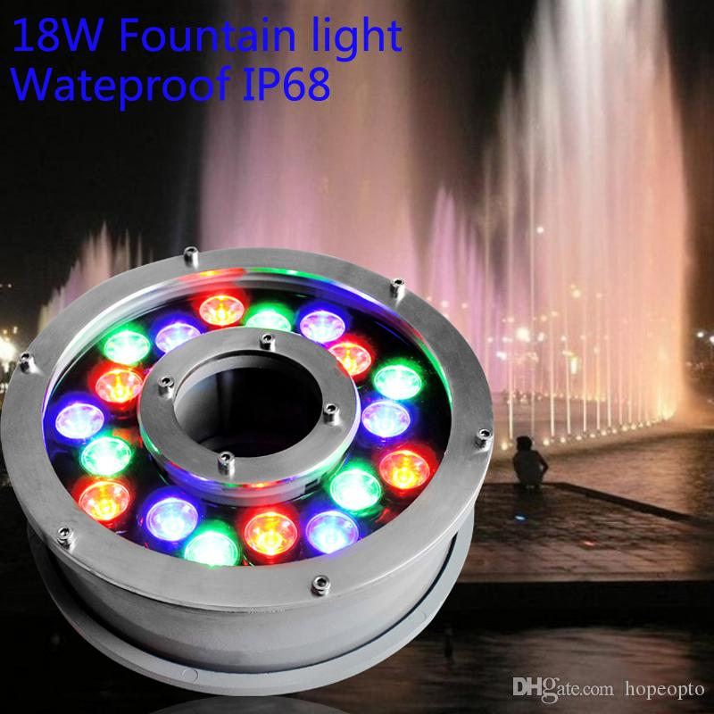 2017 ac24v 18w led fountain light underwater garden lamp pool light led swimming pool. Black Bedroom Furniture Sets. Home Design Ideas